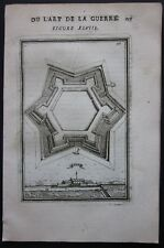 1684 REBUS view etching Alain Manesson Mallet fortifications Fort Rebus Audruicq