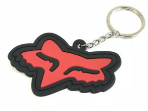 Rubber KeyChain Key Chain Ring Red Motorcycle ATV I KC07