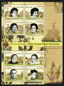 Philippines – 2011 People Power/EDSA Revolution, Sheet/8, MNH OG, VF