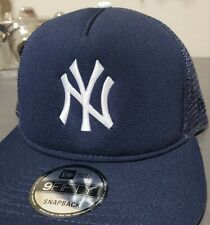 MLB New York Yankees New Era 9FIFTY A-Frame Mesh Snapback Trucker Hat Brand NEW