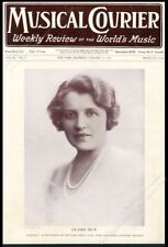 Claire Dux opera star photo Musical Courier framing cover January 15 1925