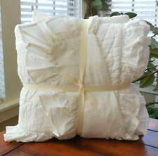 Pottery Barn Kids Ruffle Baby Bedding 3 Pc Set Quilt Sham & Crib Sheet New White