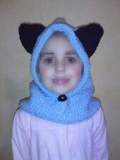 cagoule bonnet fait main hat handknitting Mütze Handarbeit enfant 2/4 ans neuf