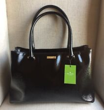 Kate Spade Bixby Place Elena Patent Leather Shoulder Bag Tote Black