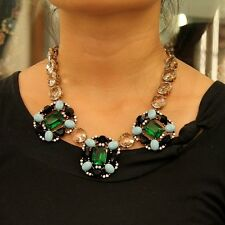 Necklace Collar Emerald Green Retro Style Modern Evening Marriage Lovely JCR 10