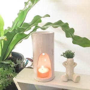 NEW White Aromatherapy Ceramic Essential Oil / Tealight Holder Wax Melt  Burner