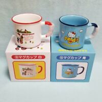 Hello Kitty Mug Blue & White Set SANRIO kawaii New Japan