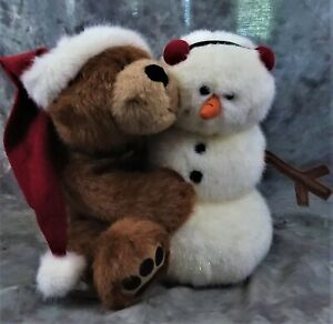 "NEW BOYDS COLLECTION ""BUBBA SANTA W/FROSTIE"" PLUSH BEAR & SNOWMAN RETIRED"