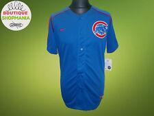 NWT MLB CHICAGO CUBS M-L Nike Baseball Blue Shirt Jersey Stitched REGULAR SEASON