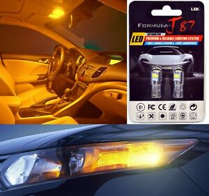 LED 3030 Light Orange Amber 168 Two Bulbs Front Side Marker Parking Lamp OE Fit