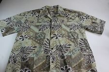Hawaiian Togs Made In Hawaii Turtle Print Short Sleeve Hawaiian SHIRT XL