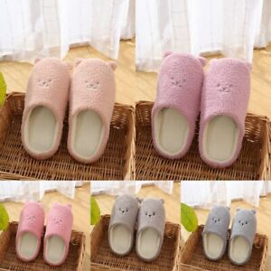 Women Slippers Cute Small Ear Soft Cotton Slippers Non-slip 5-11 AU Size Home