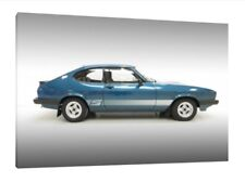 1980 Ford Capri 3.0S - 30x20 Inch Canvas Wall Art - Framed Picture Print