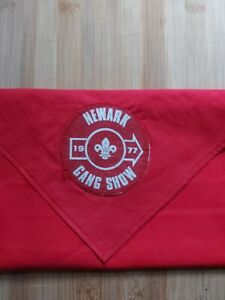 UK Scouting Scout Necker Scarf Newark Scout Gang Show 1977 Very Rare