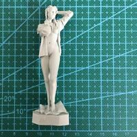 1/24 75mm Model Kits Summer Washing Girl Soldier Unpainted Model Kits Resin Kits