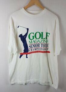 Golf Magazine Senior Tour T Shirt Extra Large Size XL Vintage Single Stitch