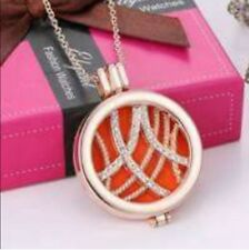 Locket Pendant Necklace Perfume Fragrance Essential Oil Aromatherapy Diffuser H