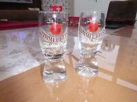 2 Schnapsgläser GAMMEL DANSK Kristall  2 cl  4 cl  Stamper