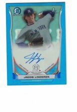 2014 Bowman Chrome JACOB LINDGREN Blue Refractor /150   Autograph