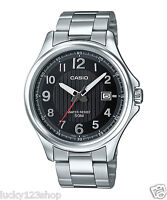 MTP-E126D-1A Black  Casio Stainless Steel Men's Watch 50M Date Display New