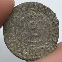 Authentic Late Medieval European Copper Coin Middle Ages Artifact Relic Old G20