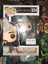 Funko Pop Barnes & Nobile Esclusivo Re Aragorn il Signore Degli Anelli 534 Menta