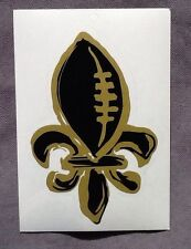 Unique Fleur de Lis Die Cut Decal Sticker Auto NFL New Orleans Saints Football