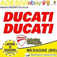2 Adesivi Sticker DUCATI serbatoio 916 996 998 999 748 S PANIGALE FACTORY ROSSO