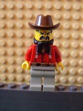 Lego Minifig ~ Flatfoot Thompson ~ Wild West Western Cowboy Outlaws/Bandits 6755