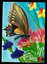 Beautiful Butterfly Gladiola  By W. Carl Ealy  - Blank Greeting Note Card - NEW