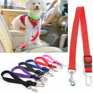 Pet Dog Adjustable Travel SEAT BELT Car Safety Harnesses Lead Restraint Strap
