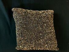 "Waterford Sparkle Pave' Sequin Accent Pillow 12""x 12"" Copper Color"