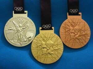 London 2012 Olympic Winners Gold Silver Bronze Medals with Ribbon 1:1 Full Size