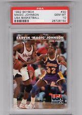 1992 Skybox #30 - MAGIC JOHNSON - USA Basketball - PSA 10 Gem Mint - LAKERS