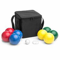 BCP Bocce Ball Set w/ 8 Balls, Pallino, Measuring Rope, Carrying Case