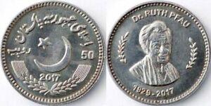 PAKISTAN 2017 50 RUPEES KM#79 Dr. RUTH PFAU WHOLESALE LOT OF 10 COIN UNC