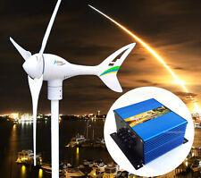 Apollo MAX 550 W 12V AC Magnet Wind Turbine Generator 3 Blade+ Charge Controller