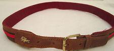 - AUTHENTIQUE  ceinture LACOSTE cuir et toile  TBEG  vintage  à saisir