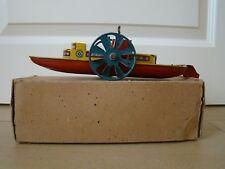 Blechspielzeug Boot Schiff Wells Brimtoy Baddle Boat No 70 Tintoy Tole Jouet OVP