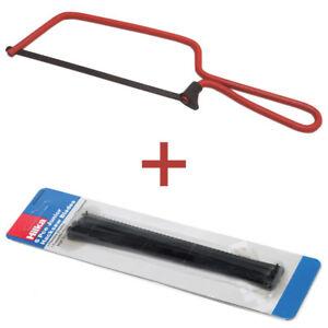 "Bundle 6"" Junior Hacksaw + 6 EXTRA Blades Frame Fine Tooth Blade 150mm Red Steel"