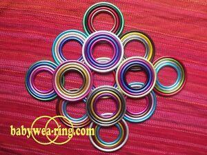 * Zertifizierte Aluminium Ringe paar für Baby Tragetuch-Sling 4 Größen-Nicerings