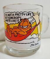McDonalds Garfield Vintage Glass Coffee Mug Jim Davis 1978 Its Not A Pretty Life