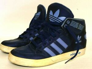 Adidas Men's Navy Blue On Blue Hard Court Athletic Shoes Hi Tops Size 7 Lace-Up