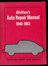 Chilto'n -Auto repair Manual- 1940 /1953-Voitures américaines- Buick-Cadillac...
