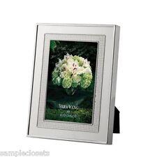 Vera Wang Wedgwood Blanc Sur Blanc Silver 5 x 7 Picture Frame. NIB.