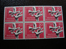 ALLEMAGNE (rfa) - timbre - yvert et tellier n° 148 x6 n** (A6) stamp germany(Z)