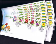 2007 Malaysia Garden Flowers Definitive Stamps on 14 FDC (14 States Cachet)