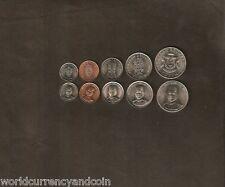 BRUNEI 1 5 10 20 50 SEN 1993 - 2005 SULTAN UNC COMPLETE COINS WHOLESALE 100 SETS