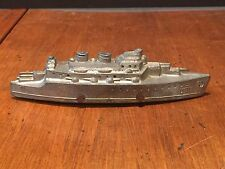 Antique Vintage Ralstoy Lead Toy USN Navy Battleship Destroyer c. 1930s
