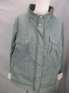 Columbia Size XL Womens Green Full Zip Sun Protection Cotton Basic Jacket T713